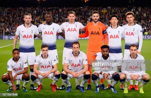 Tottenham Hotspur's Belgian defender Toby Alderweireld Tottenham Hotspur's French midfielder Moussa Sissoko Tottenham Hotspur's Belgian defender Jan...