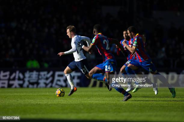 Tottenham Hotspur's Christian Eriksen in action during the Premier League match between Crystal Palace and Tottenham Hotspur at Selhurst Park on...