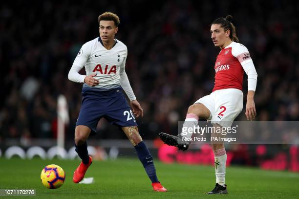 Tottenham Hotspur's Dele Alli and Arsenal's Hector Bellerin battle for the ball