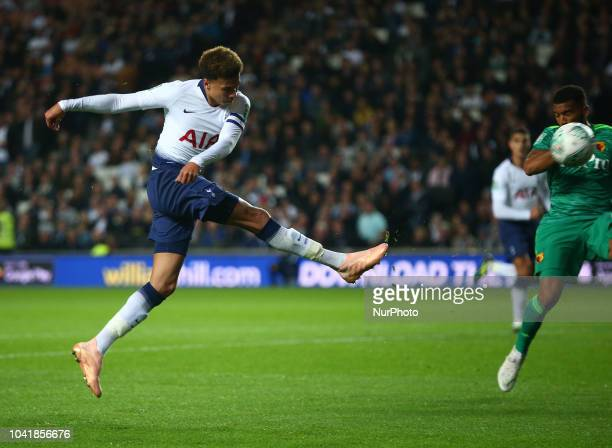 Tottenham Hotspur's Dele Alli during Carabao Cup 3rd Round match between Tottenham Hotspur and Watford at Stadium MK Milton Keynes England on 26 Sept...