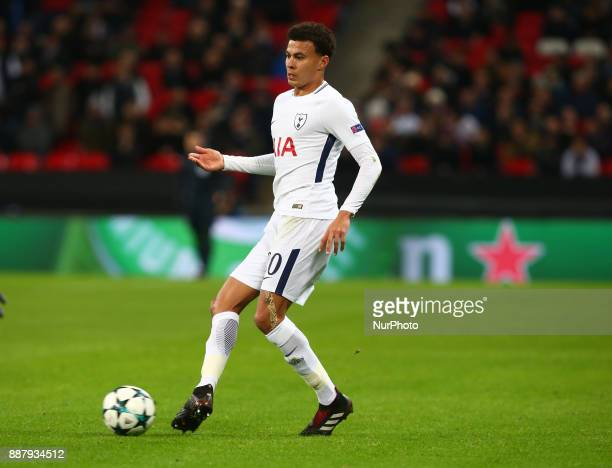Tottenham Hotspur's Dele Alli during the Champions League Group G match between Tottenham Hotspur and Apoel Nicosia at Wembley stadium London England...