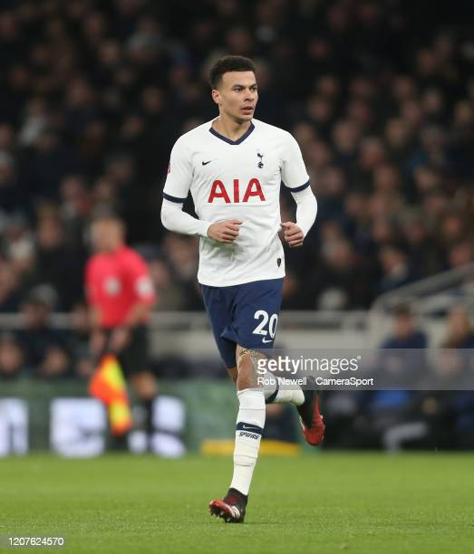 Tottenham Hotspur's Dele Alli during the FA Cup Fifth Round match between Tottenham Hotspur and Norwich City at Tottenham Hotspur Stadium on March 4...