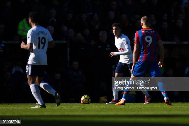 Tottenham Hotspur's Dele Alli in action during the Premier League match between Crystal Palace and Tottenham Hotspur at Selhurst Park on February 25...