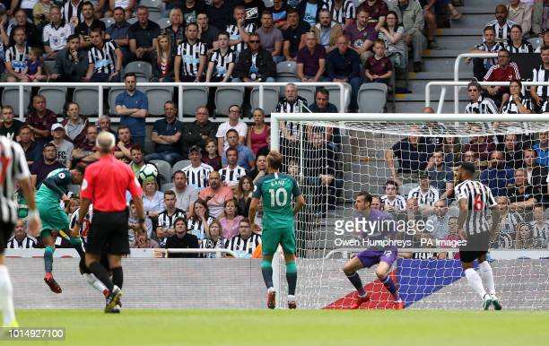 Tottenham Hotspur's Dele Alli scores his side's second goal of the game during the Premier League match at St James' Park Newcastle