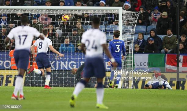 Tottenham Hotspur's Dele Alli scores his side's second goal of the game during the Premier League match at the King Power Stadium Leicester