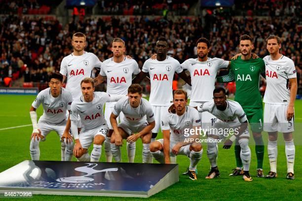 Tottenham Hotspur's English defender Eric Dier Tottenham Hotspur's Belgian defender Toby Alderweireld Tottenham Hotspur's Colombian defender Davinson...