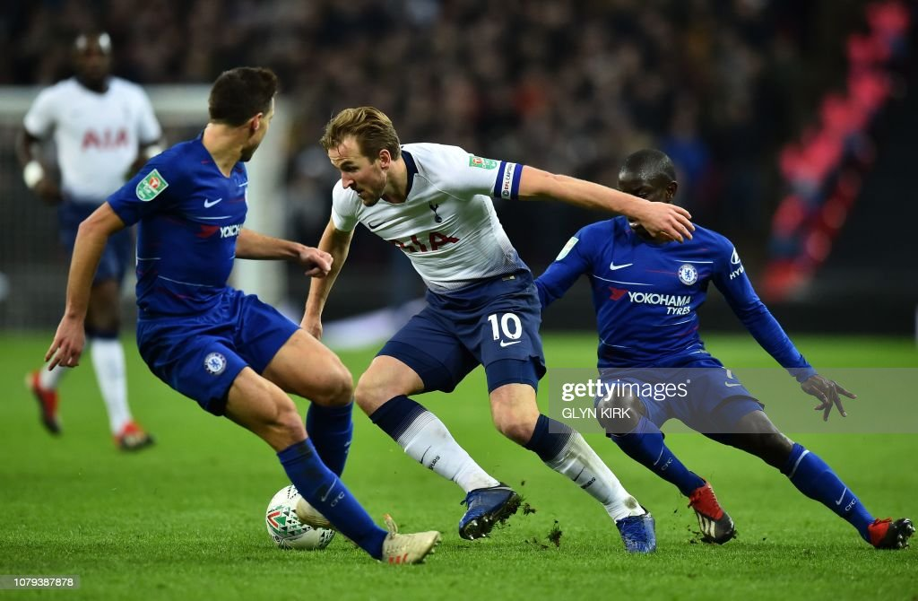 FBL-ENG-LCUP-TOTTENHAM-CHELSEA : News Photo