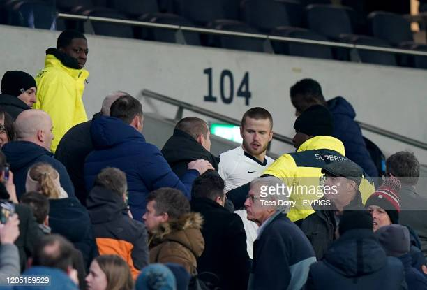 Tottenham Hotspur's Eric Dier has an altercation with a fan in the stands after the game Tottenham Hotspur v Norwich City FA Cup Fifth Round...