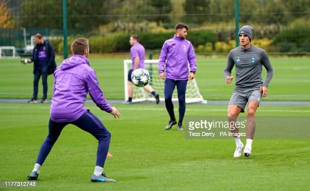 Tottenham Hotspur's Erik Lamela during the training session at Tottenham Hotspur Training Centre, London.