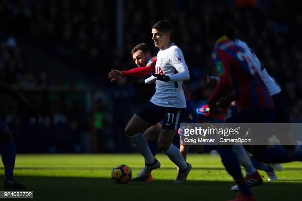 Tottenham Hotspur's Erik Lamela in action during the Premier League match between Crystal Palace and Tottenham Hotspur at Selhurst Park on February...