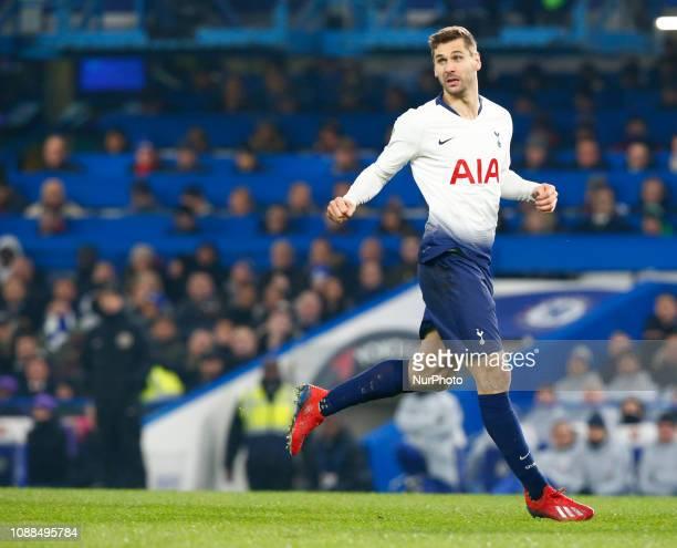 Tottenham Hotspur's Fernando Llorente during during Carabao Cup Semi Final 2nd Leg between Chelsea and Tottenham Hotspur at Stanford Bridge stadium...