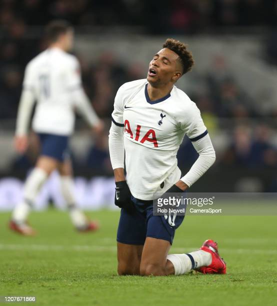 Tottenham Hotspur's Gedson Fernandes after a missed chance during the FA Cup Fifth Round match between Tottenham Hotspur and Norwich City at...