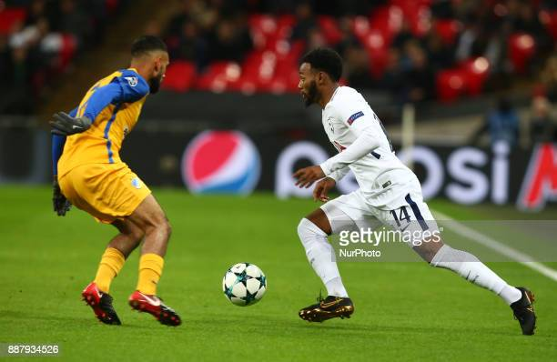 Tottenham Hotspur's Georges-Kévin N'Koudou during the Champions League Group G match between Tottenham Hotspur and Apoel Nicosia at Wembley stadium ,...