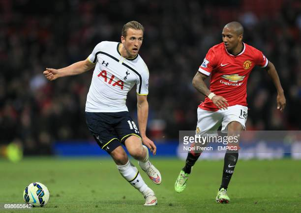 Tottenham Hotspur's Harry Kane and Manchester United's Ashley Young battle for the ball