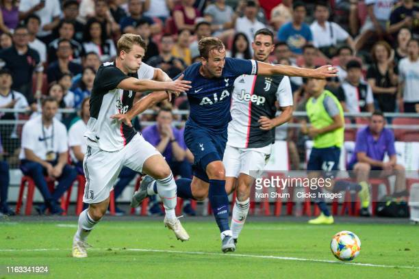 Tottenham Hotspur's Harry Kane control the ball during the International Champions Cup match between Juventus and Tottenham Hotspur at the Singapore...