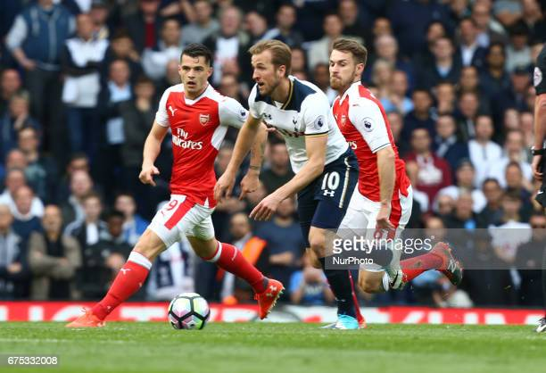 Tottenham Hotspur's Harry Kane during the Premier League match between Tottenham Hotspur and Arsenal at White Hart Lane London England on 12 March...