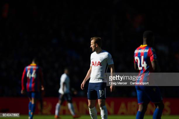 Tottenham Hotspur's Harry Kane during the Premier League match between Crystal Palace and Tottenham Hotspur at Selhurst Park on February 25 2018 in...