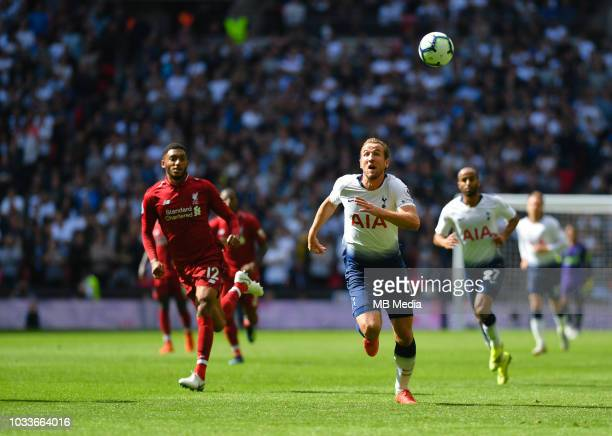 Tottenham Hotspur's Harry Kane in action during the Premier League match between Tottenham Hotspur and Liverpool FC at Wembley Stadium on September...