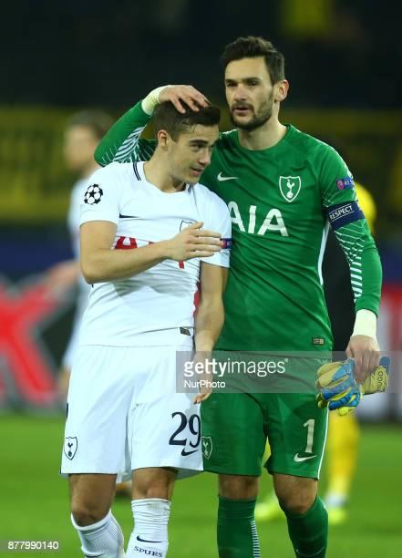 LR Tottenham Hotspur's Harry Winks and Tottenham Hotspur's Hugo Lloris during UEFA Champion League Group H Borussia Dortmund between Tottenham...