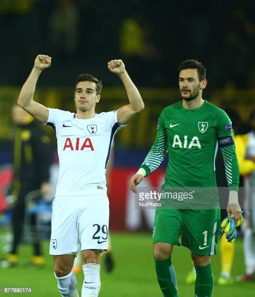 LR Tottenham Hotspur's Harry Winks and Tottenham Hotspur's Hugo Lloris after UEFA Champion League Group H Borussia Dortmund between Tottenham Hotspur...