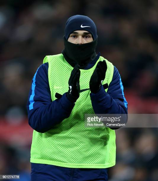 Tottenham Hotspur's Harry Winks during the Premier League match between Tottenham Hotspur and West Ham United at Wembley Stadium on January 4 2018 in...
