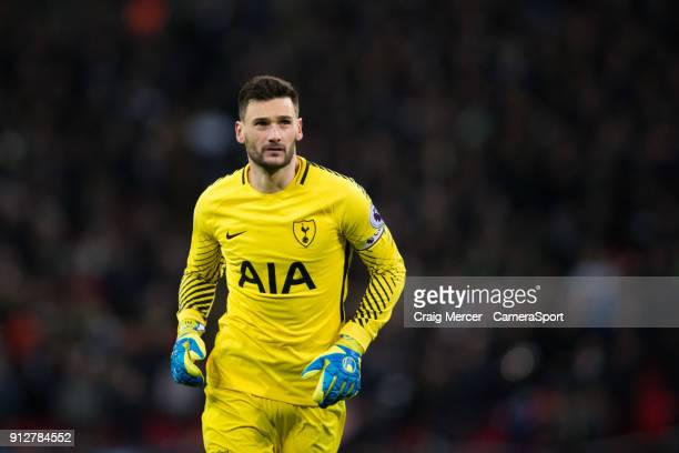 Tottenham Hotspur's Hugo Lloris during the Premier League match between Tottenham Hotspur and Manchester United at Wembley Stadium on January 31 2018...