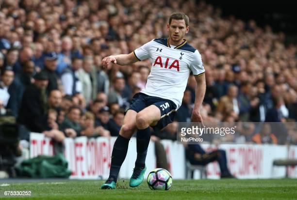 Tottenham Hotspur's Jan Vertonghen during the Premier League match between Tottenham Hotspur and Arsenal at White Hart Lane London England on 12...