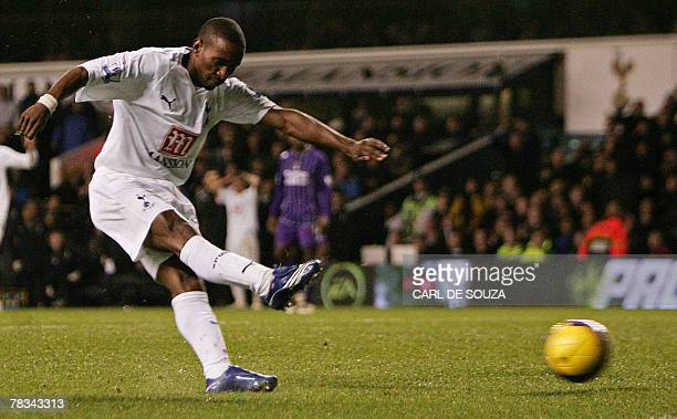 Tottenham Hotspur's Jermain Defoe scores their second goal during their Premiership match against Manchester City at home to Tottenham Hotspur at...