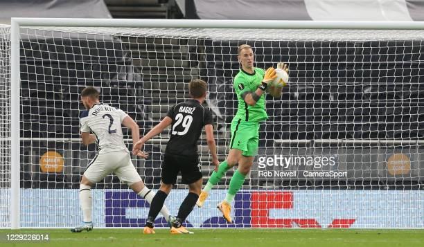 Tottenham Hotspur's Joe Hart gathers a cross during the UEFA Europa League Group J stage match between Tottenham Hotspur and LASK at Tottenham...