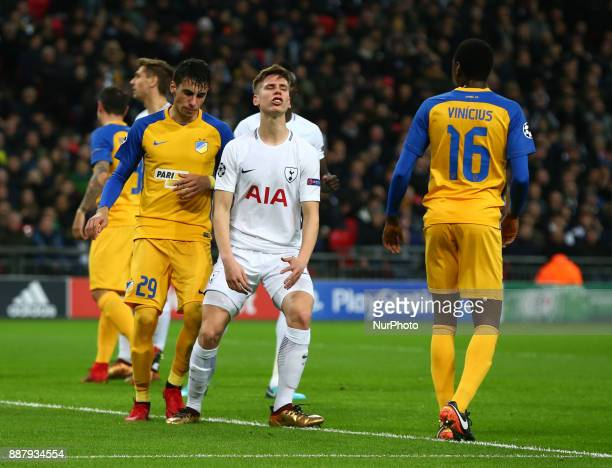 Tottenham Hotspur's Juan Foyth during the Champions League Group G match between Tottenham Hotspur and Apoel Nicosia at Wembley stadium London...