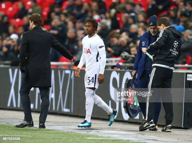 Tottenham Hotspur's Kazaiah Sterling during the Champions League Group G match between Tottenham Hotspur and Apoel Nicosia at Wembley stadium London...