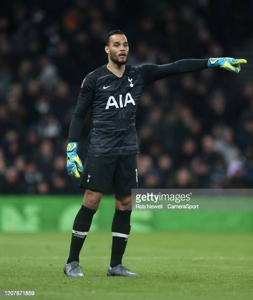 Tottenham Hotspur's Michel Vorm during the FA Cup Fifth Round match between Tottenham Hotspur and Norwich City at Tottenham Hotspur Stadium on March...