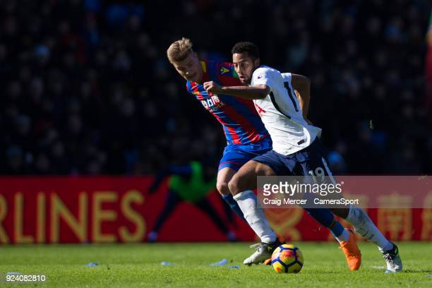 Tottenham Hotspur's Mousa Dembele holds off the challenge from Crystal Palace's Alexander Sorloth during the Premier League match between Crystal...