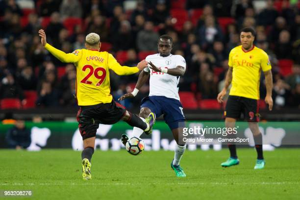 Tottenham Hotspur's Moussa Sissoko battles for possession with Watford's Etienne Capoue during the Premier League match between Tottenham Hotspur and...