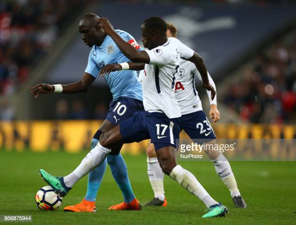 Tottenham Hotspur's Moussa Sissoko tackles Newcastle United's Mohamed Diame during the English Premier League match between Tottenham Hotspur and...