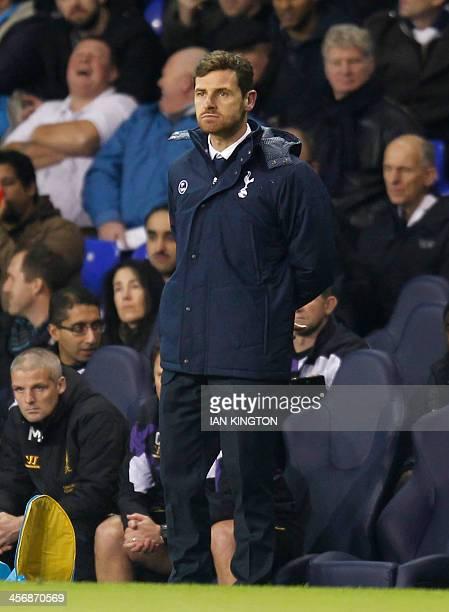 Tottenham Hotspur's Portugese manager Andre VillasBoas gestures during the English Premier League football match between Tottenham Hotspur and...