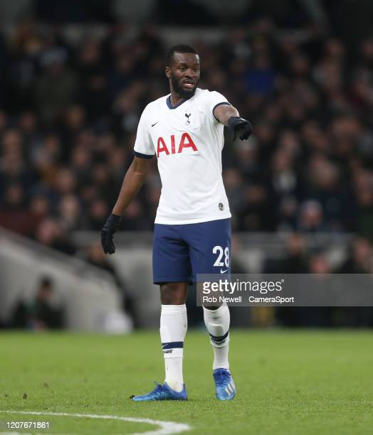 Tottenham Hotspur's Tanguy NDombele during the FA Cup Fifth Round match between Tottenham Hotspur and Norwich City at Tottenham Hotspur Stadium on...