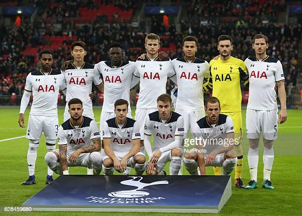 Tottenham Hotspur's Team during UEFA Champions League Group E match between Tottenham Hotspur and CSKA Moscow at Wembley stadium 07 Dec 2016