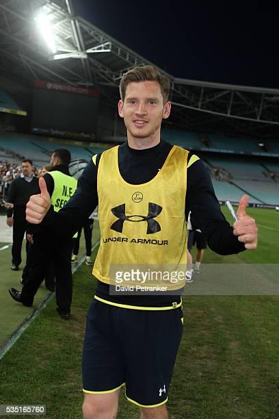 Tottenham Hotspurs training at Stadium Australia