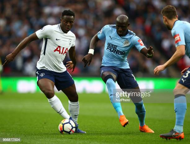 Tottenham Hotspur's Victor Wanyama holds of Newcastle United's Mohamed Diame during the English Premier League match between Tottenham Hotspur and...