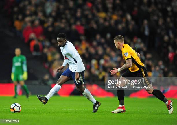 Tottenham Hotspur's Victor Wanyama vies for possession with Newport County's Scot Bennett during the The Emirates FA Cup Fourth Round Replay match...