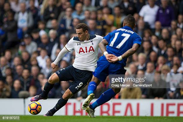 Tottenham Hotspur's Vincent Janssen in action during the Premier League match between Tottenham Hotspur and Leicester City at White Hart Lane on...