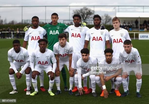 Tottenham line up during the UEFA Youth League group H match between Tottenham Hotspur and FC Porto at on March 13 2018 in Enfield United Kingdom