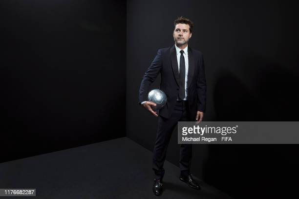 Tottenham manger Mauricio Pochettino poses for a portrait in the photo booth prior to The Best FIFA Football Awards 2019 at Excelsior Hotel Gallia on...