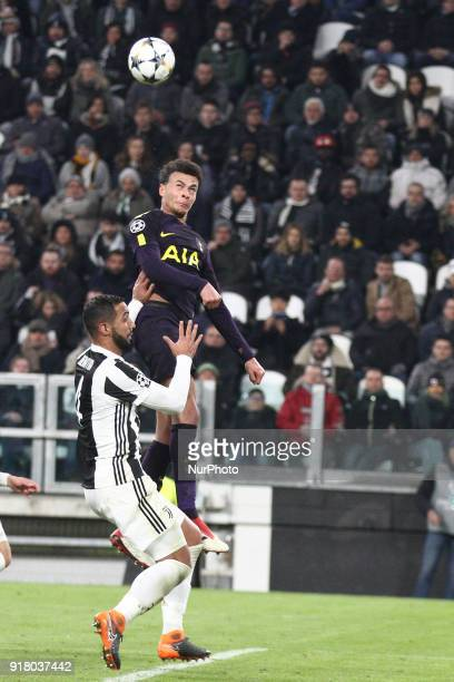 Tottenham midfielder Dele Alli heads the ball during the Uefa Champions League round of 16 football match JUVENTUS TOTTENHAM on at the Allianz...