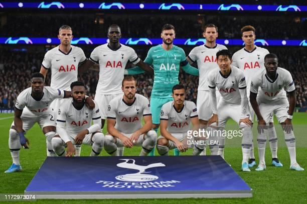 Tottenham players Tottenham Hotspur's Belgian defender Toby Alderweireld Tottenham Hotspur's French midfielder Moussa Sissoko Tottenham Hotspur's...