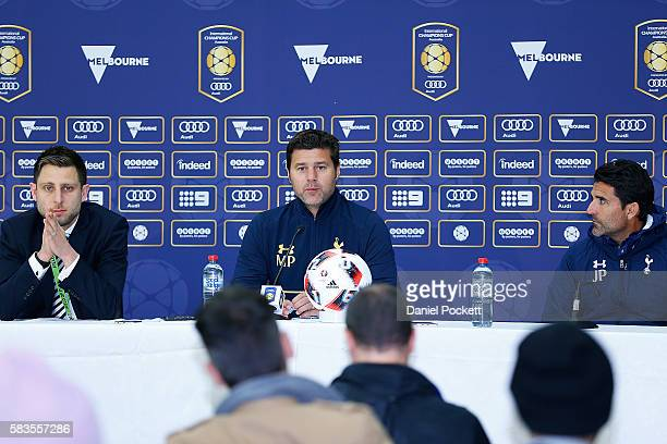 Tottenham Team Manager Mauricio Pochettino speaks during the press conference after the 2016 International Champions Cup match between Juventus FC...