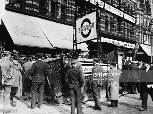 Tottenham Tube Station Demolished Entrance After The Crush Of A 100 Ton Girder At London In United Kingdom On May 27Th 1931