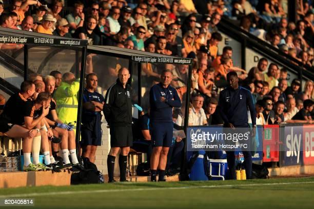 Tottenham U23 coach Wayne Burnett during the pre season friendly match between Cambridge United and Tottenham U23 at Cambs Glass Stadium on July 21,...