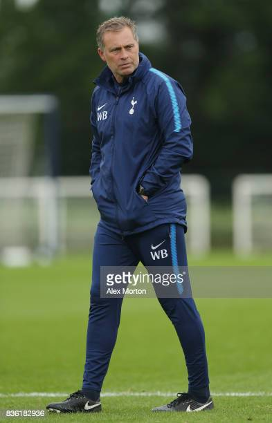 Tottenham U23 manager Wayne Burnett during the Premier League 2 match between Tottenham Hotspur and West Ham United at Tottenham Hotspur Training...